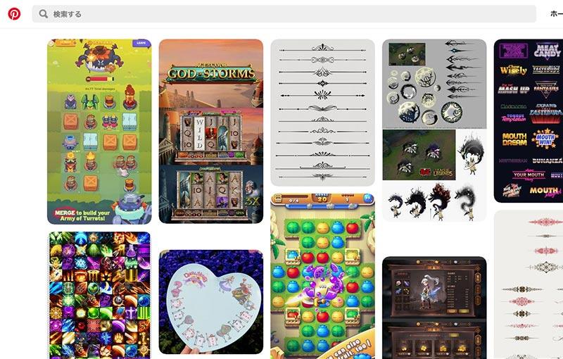 Pinterestトップ画像