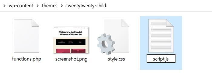 ファイル名をscript.jsに書き換える