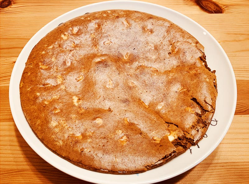 プロテインパンケーキの出来上がり
