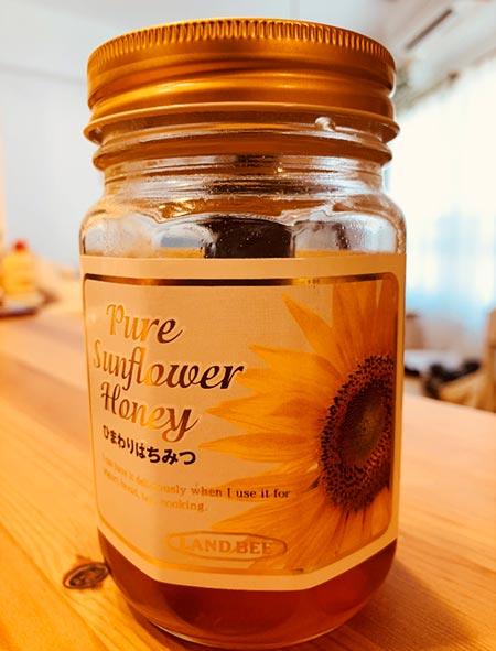 蜂蜜をかける