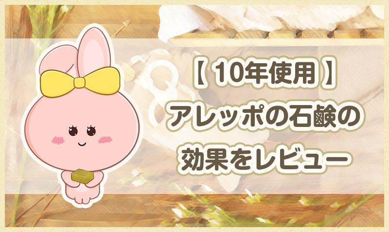 【 10年使用 】アレッポの石鹸の効果をレビュー