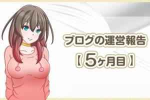 ブログの運営報告【 5ヶ月目 】