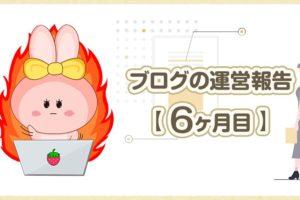 ブログの運営報告【 6ヶ月目 】